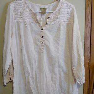 Light pink quarter button shirt